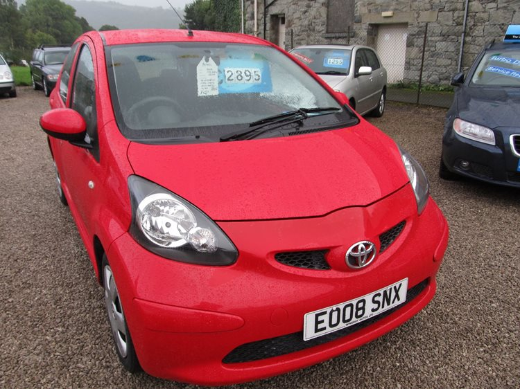 NOW SOLD Toyota AYGO 1.0 VVT-i AYGO+ 5 Door in Red