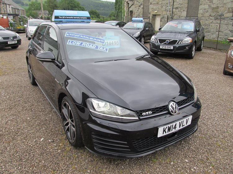 Volkswagen Golf 2.0TDI 184ps GTD 5 Door Hatchback in Black Metallic