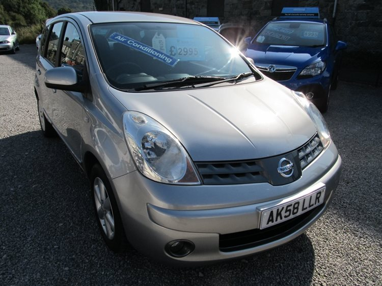 Nissan Note 1.4 Acenta 5 Door Mpv in Silver Metallic